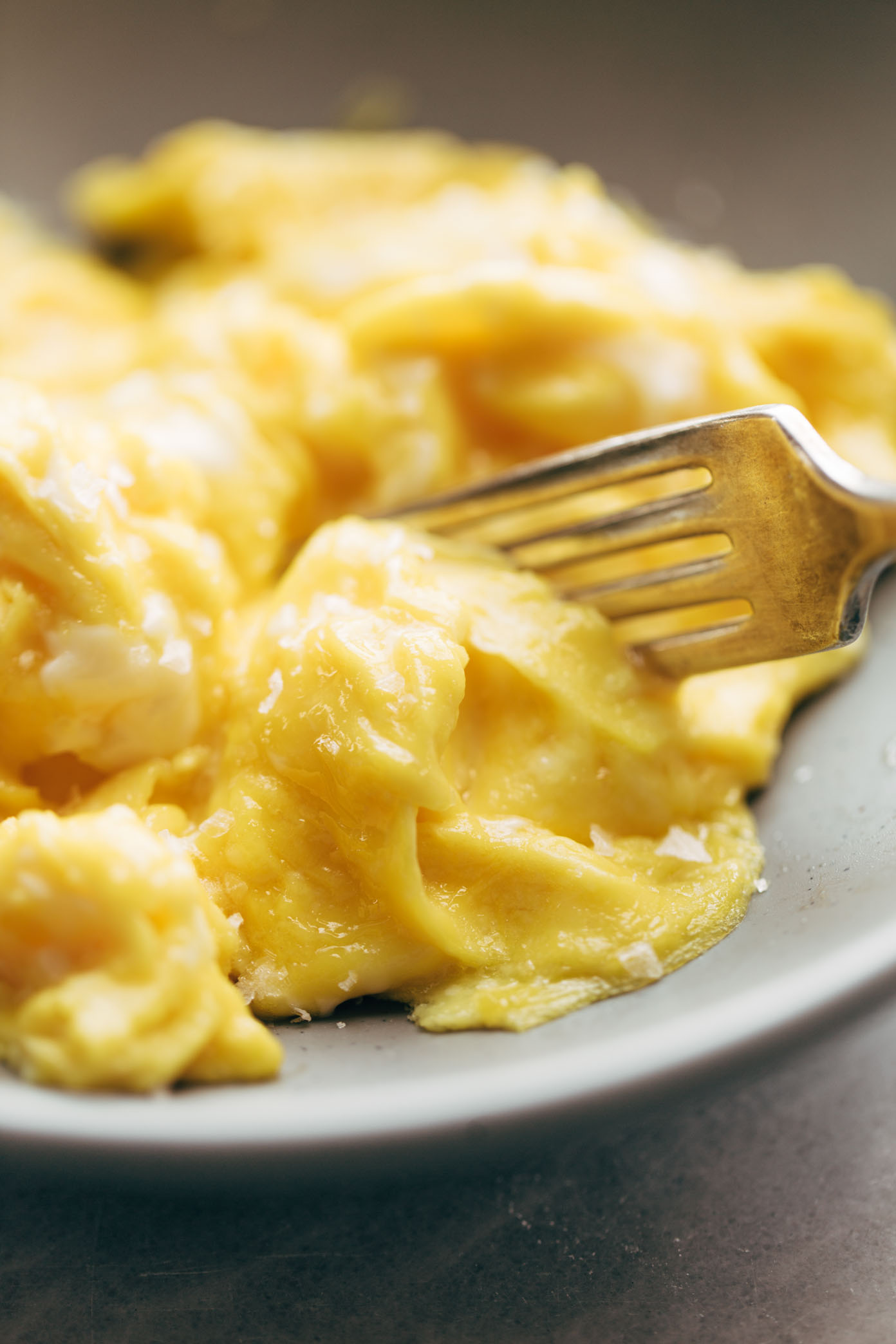 The absolute best soft scrambled eggs of my life! No strange ingredients or methods - just five quick and easy secrets to the best scrambled eggs of your life. | pinchofyum.com